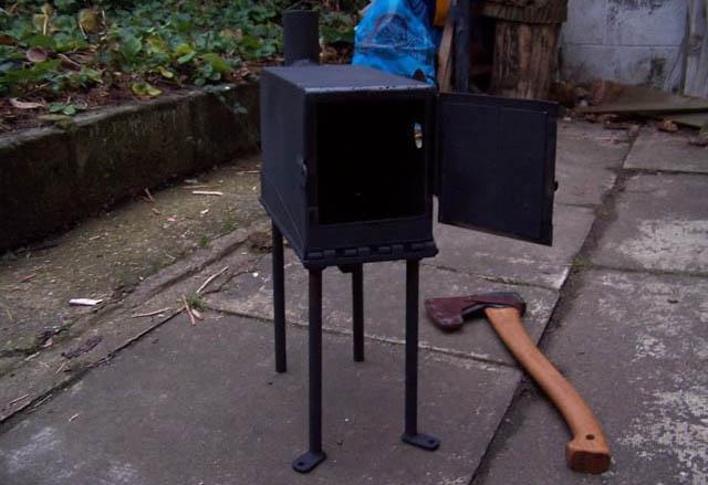печка для теплицы на дровах