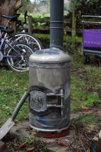 кирпичная печка на дровах
