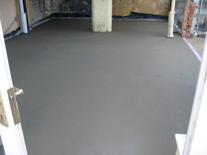 бетонная стяжка для теплого водяного пола