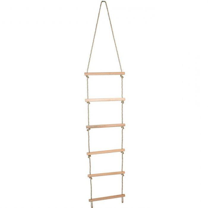 как правильно сделать веревочную лестницу