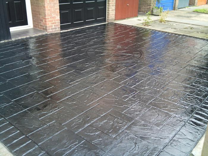 Gedruckte Beton Hervorragende Leistung Hat, Wird Durch Druck Die Matrix Auf  Der Oberfläche Erzeugt.