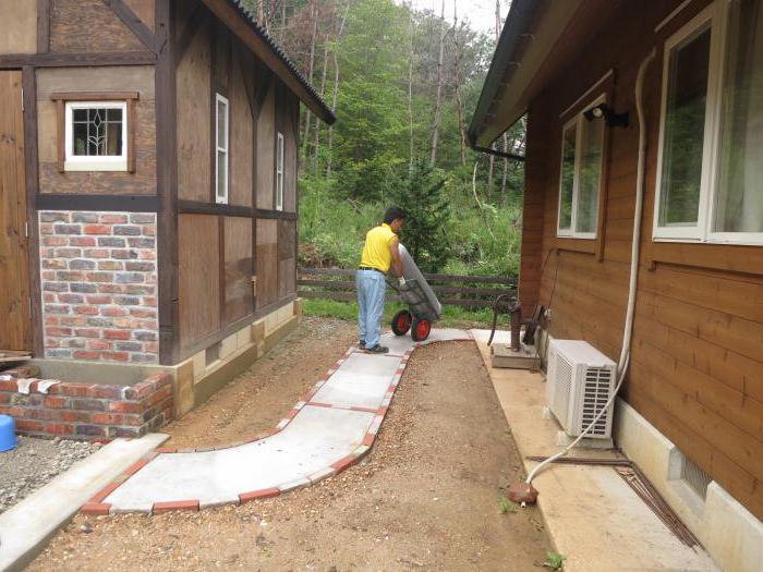 садовые дорожки своими руками с малыми затратами из бетона