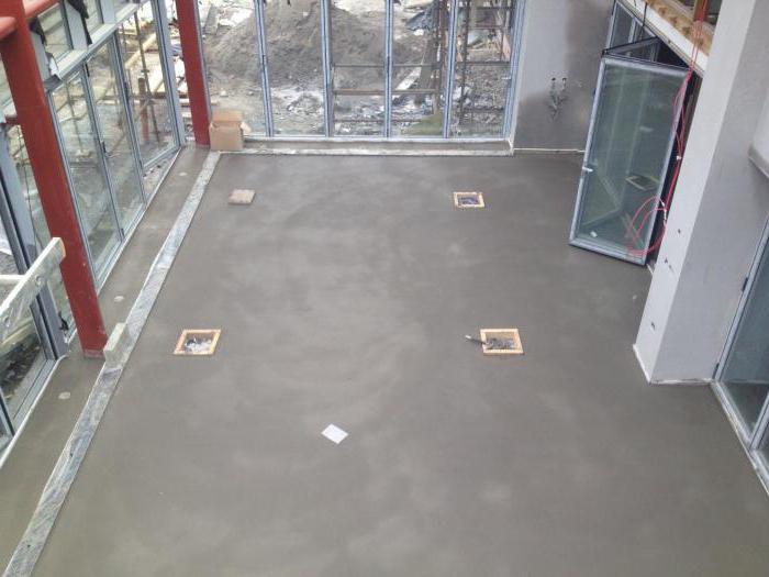 цементный раствор для стяжки пола пропорции