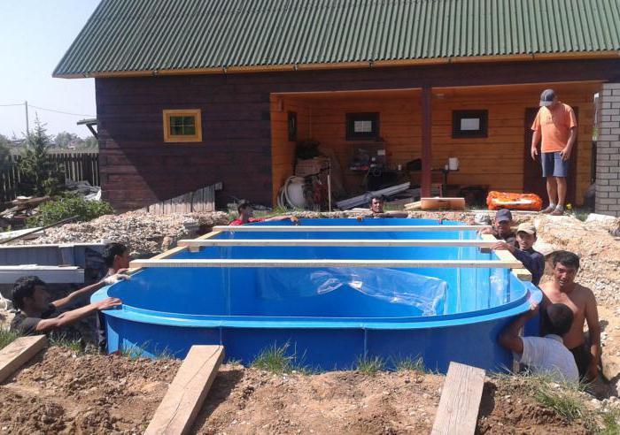 бассейн для дачи полипропиленовый
