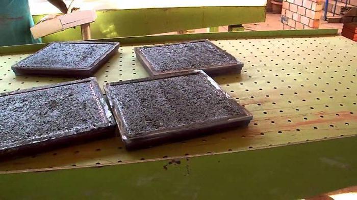 вибростол для производства плитки