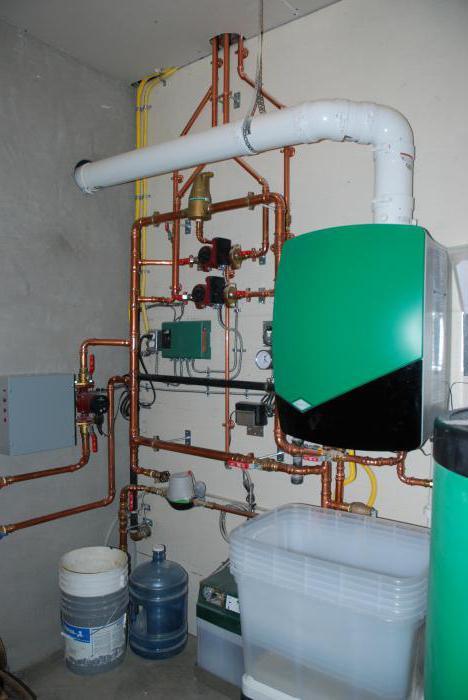 как установить навесной газовый котел