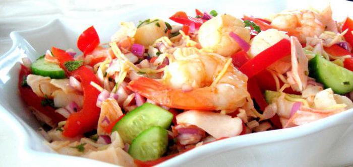 рецепты салатов из замороженных морепродуктов