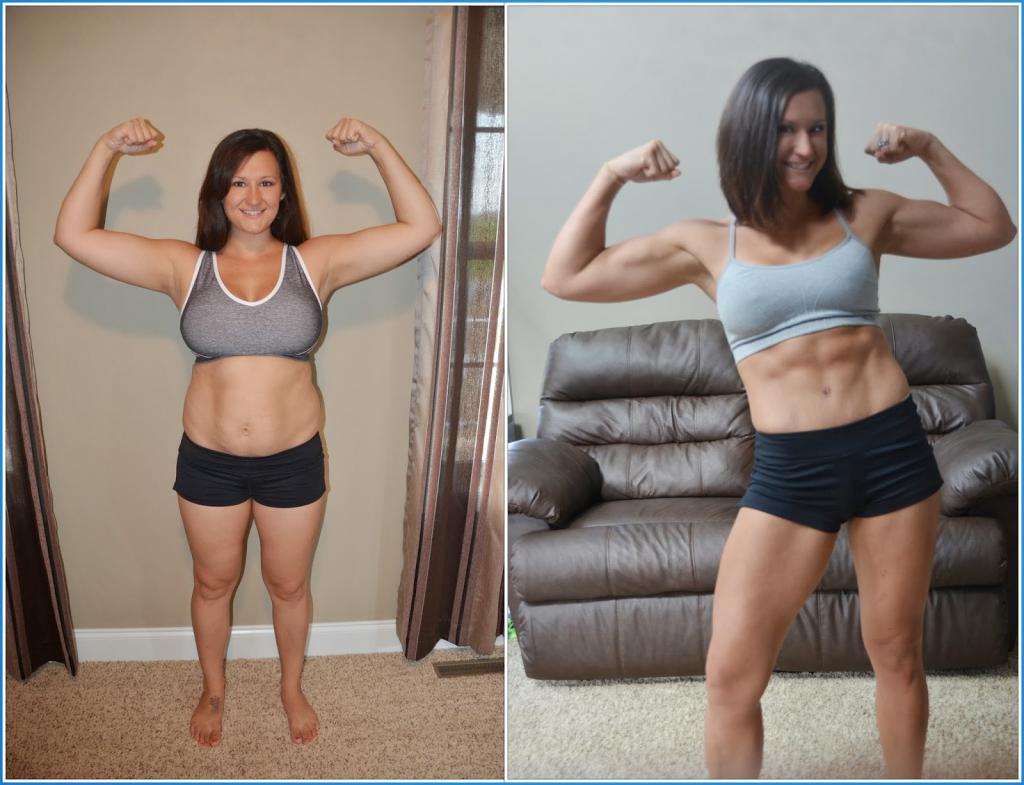 занятия в спортзале до и после фото