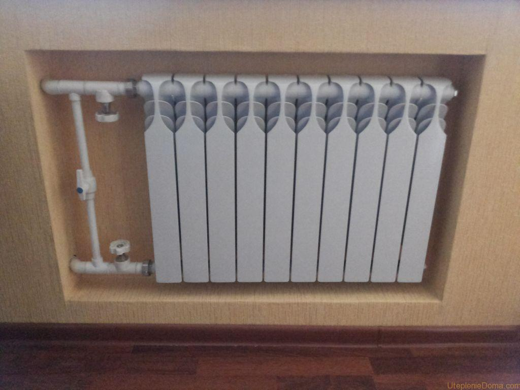 Integrated bimetal radiator