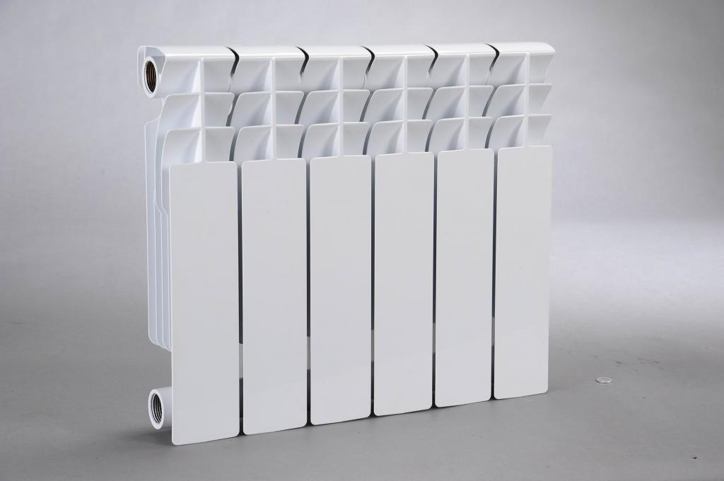 White bimetal radiator