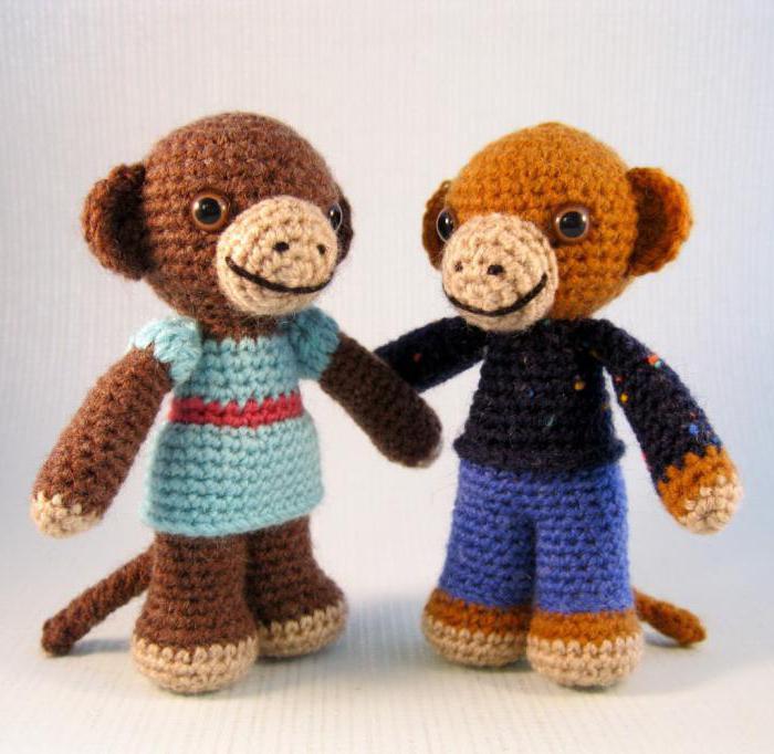 вязать обезьянку крючком схема