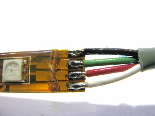 схема подключения RGB светодиодной ленты