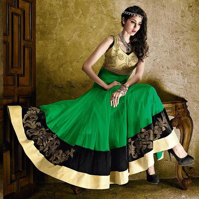 сочетание цветов с зеленым цветом в одежде