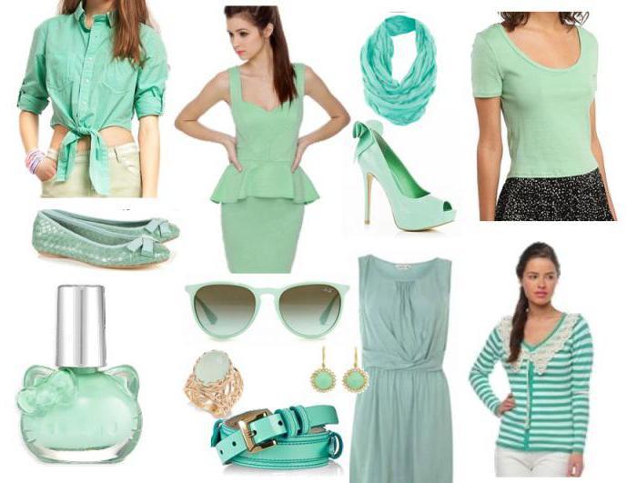 сочетание зеленого цвета с другими цветами