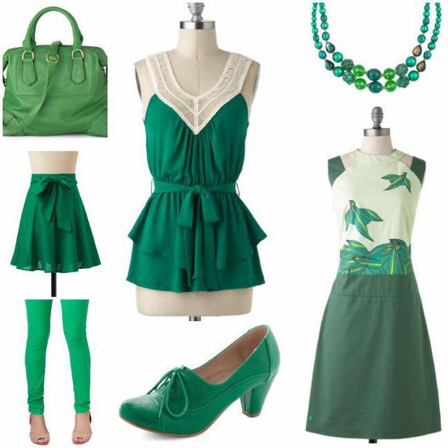 зеленый цвет сочетание
