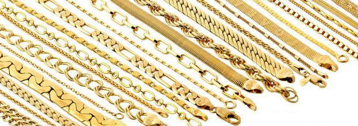 плетение золотых цепей