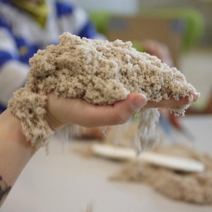 кинетический песок как сделать в домашних условиях