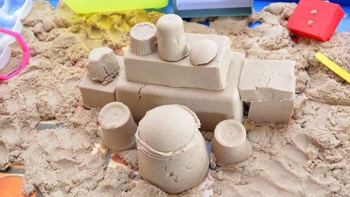 кинетический песок как работает