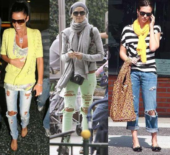 Рваные джинсы: с чем носить