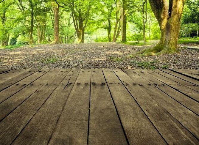 деревянный настил