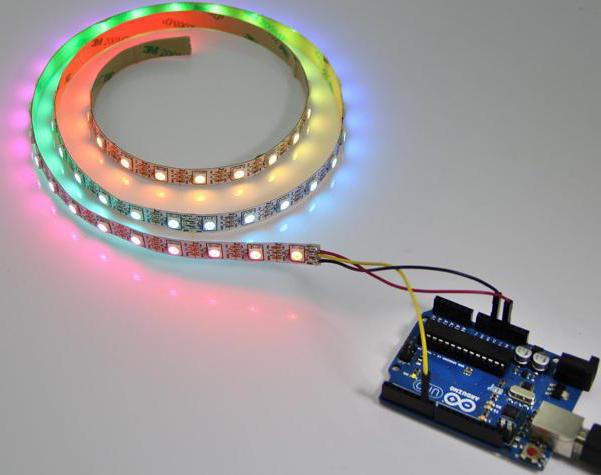 светодиодная лента многоцветная с пультом управления
