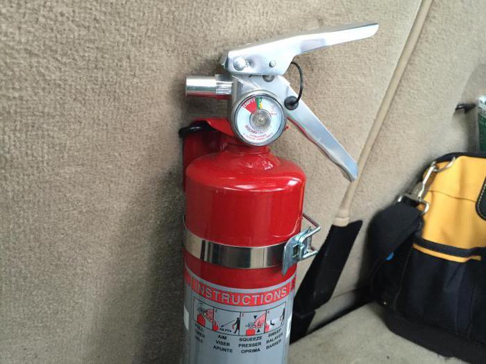 где должен располагаться огнетушитель