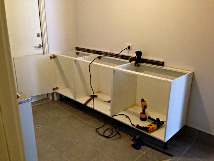 сборка и установка кухонного гарнитура