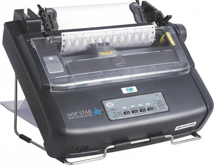 как работает матричный принтер
