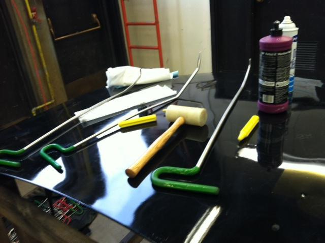 набор инструментов для удаления вмятин без покраски