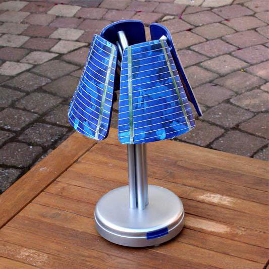 лампа на солнечной батарее для дачи