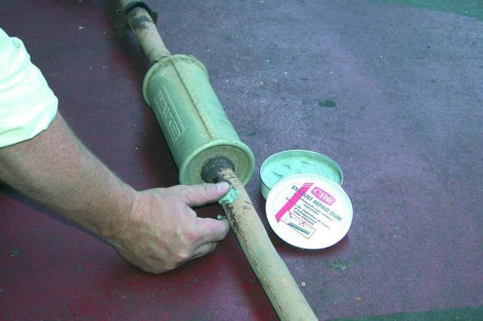 герметик для выхлопной системы автомобиля abro