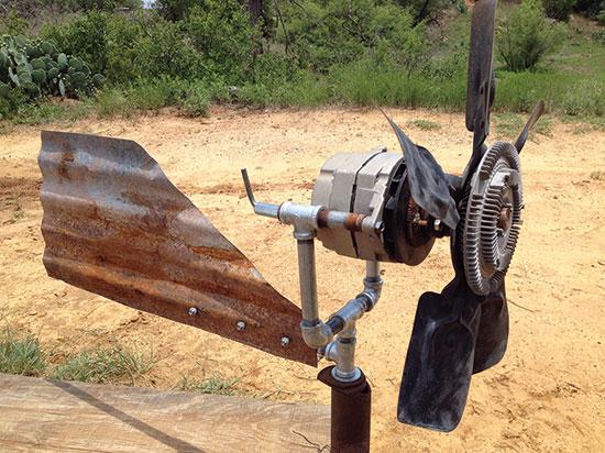 Homemade wind generator