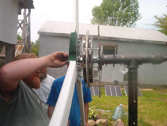 Installation of a homemade wind generator