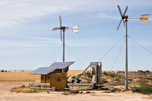 Mast of a homemade wind generator