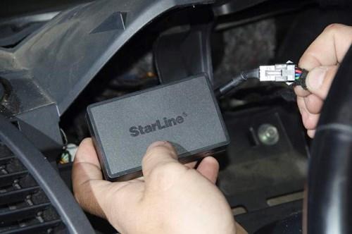 Установка сигнализации Starline