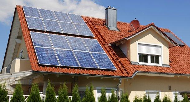Дом с питанием на солнечных батареях