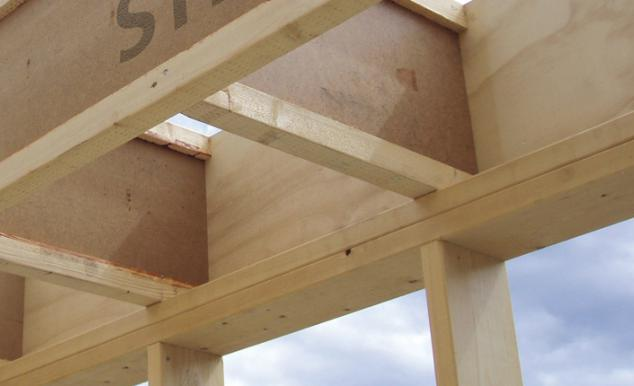 The use of a wooden I-beam