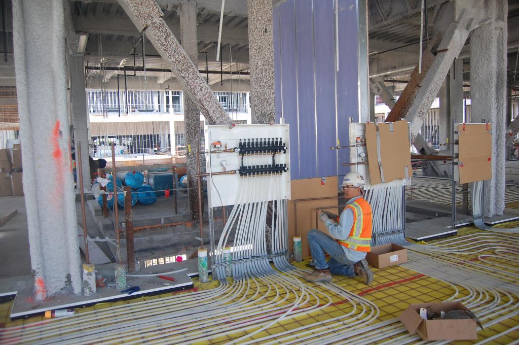 Underfloor heating control system