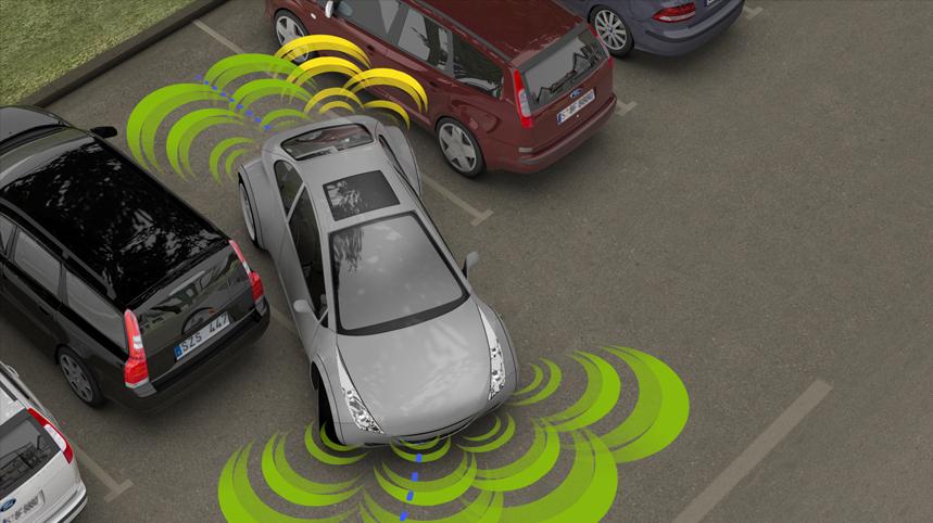 Процесс парковки с датчиками