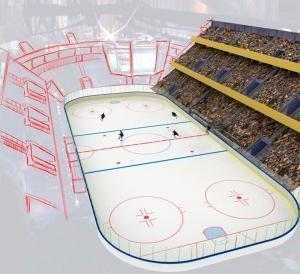 Какого размера хоккейное поле?