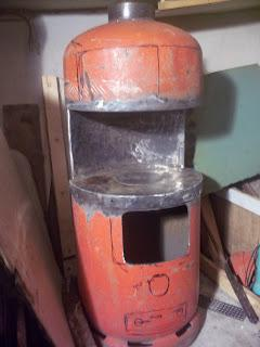 печка из газового баллона на отработке