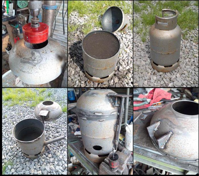 печка из газового баллона своими руками на дровах