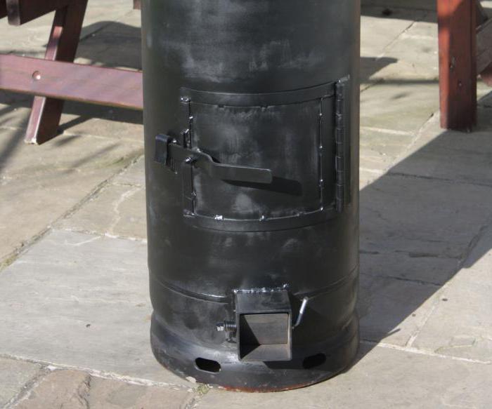 печка из газового баллона своими руками фото