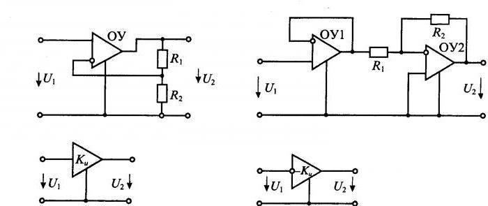 схема усилителя постоянного тока на операционном усилителе