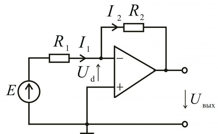 схема усилителя на операционном усилителе