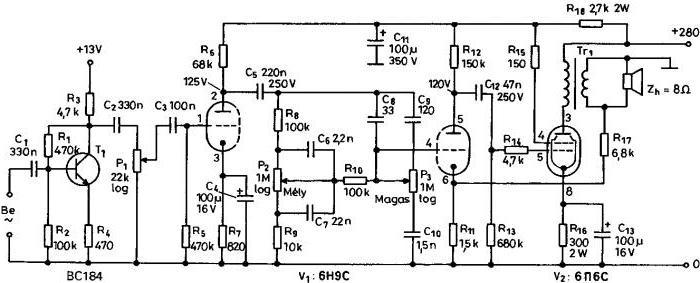 схема усилителя звука