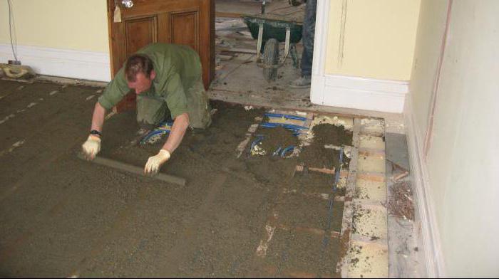 заливка стяжки пола бетоном