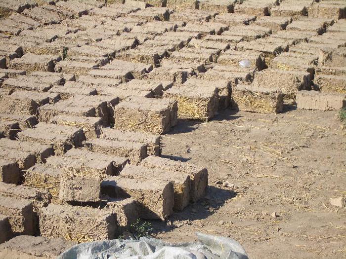Кирпич из глины и соломы