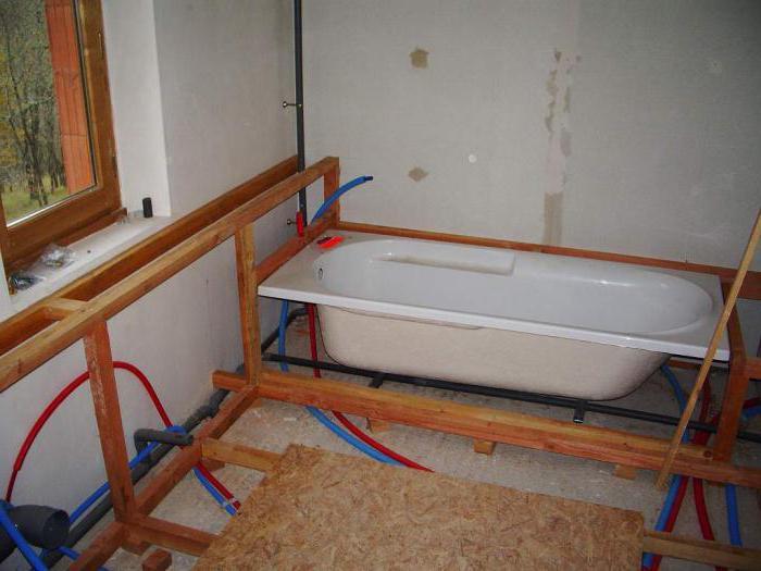 короб закрывающий трубы ванной