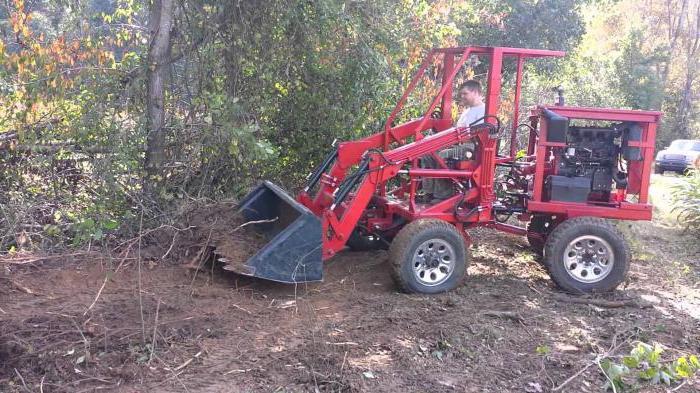 самодельный погрузчик на трактор